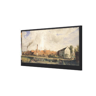 View of a Sugar Factory Canvas Print