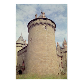 View of a tower of the chateau print