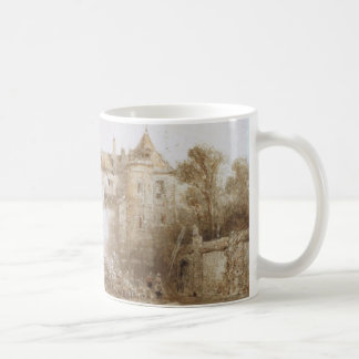 View of a Town with Bell Tower Mug
