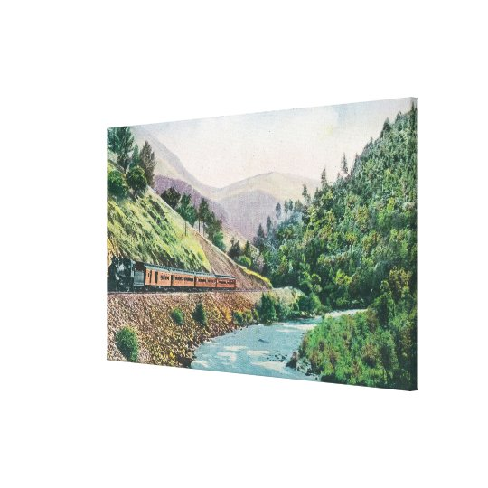 View of a Train going to Yosemite Valley Canvas Print
