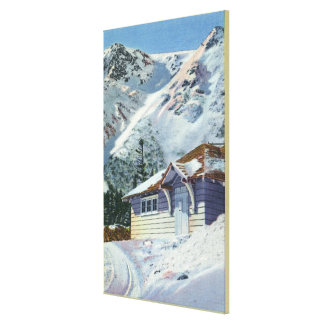 View of a US Forest Service Ski Shelter Canvas Print