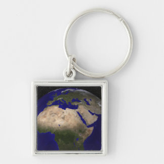 View of Africa, Europe, the Middle East, and In Keychain