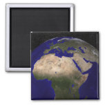 View of Africa, Europe, the Middle East, and In 2 Inch Square Magnet