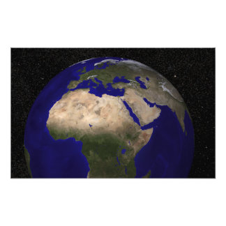 View of Africa, Europe, the Middle East, and In Photo Print