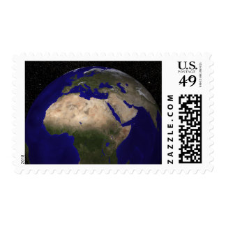 View of Africa, Europe, the Middle East, and In Postage