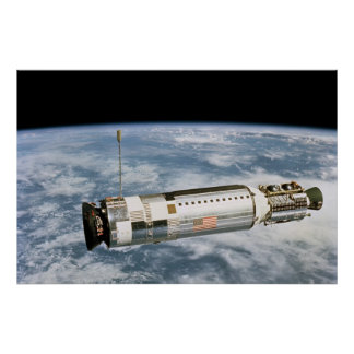 View of Agena Target Vehicle from Gemini 12 Poster