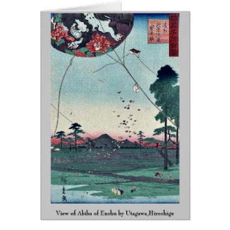 View of Akiba of Enshu by Utagawa,Hiroshige Card