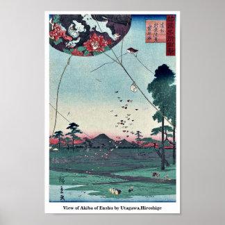 View of Akiba of Enshu by Utagawa,Hiroshige Posters