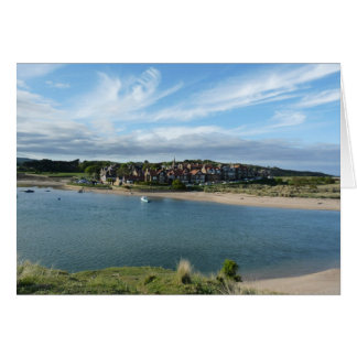 """View of Alnmouth from Hill"" Card"