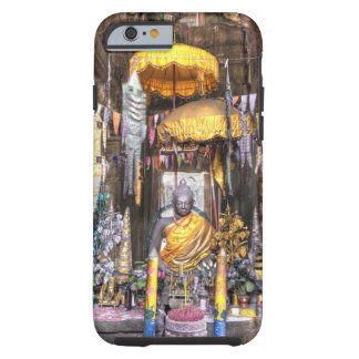 View of altar area inside Buddhist temple, Tough iPhone 6 Case