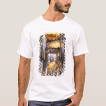 View of altar area inside Buddhist temple, T-Shirt