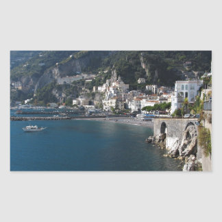View of Amalfi coast Rectangular Sticker