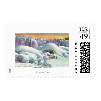 View of American Falls in Winter Stamp