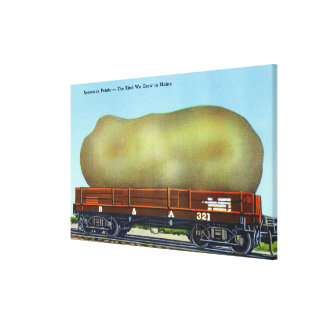 View of an Aroostook Potato on a Train Trolley Canvas Print