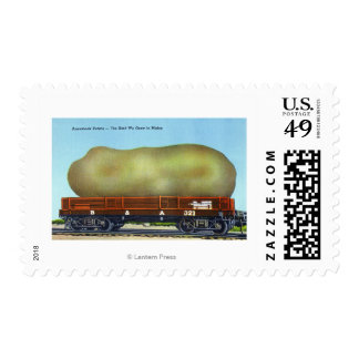 View of an Aroostook Potato on a Train Trolley Stamp