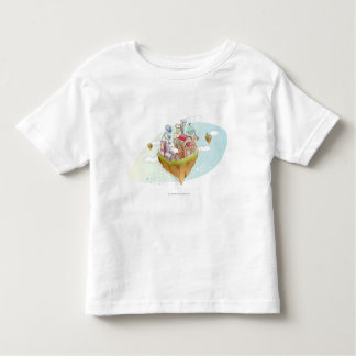 View of an colorful abstract illustration toddler t-shirt