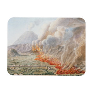 View of an eruption of Mt. Vesuvius which began on Rectangular Photo Magnet