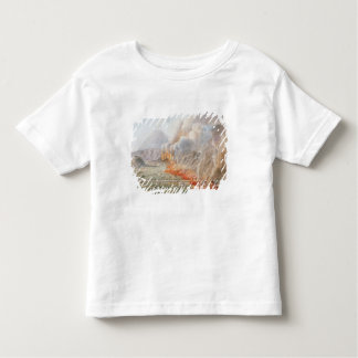 View of an eruption of Mt. Vesuvius which began on Toddler T-shirt