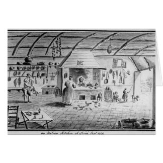 View of an Italian kitchen at Lerici Greeting Card