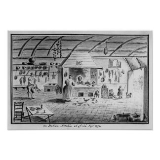 View of an Italian kitchen at Lerici Poster