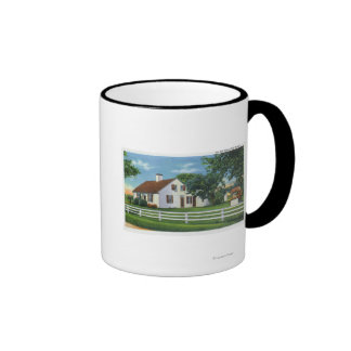 View of an Old Cape Cod Home Ringer Mug