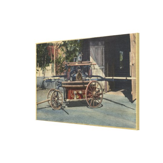 "View of an ""Old Papeete"" Engine Canvas Print"