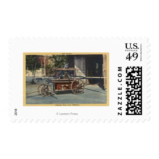 """View of an """"Old Papeete"""" Engine Stamp"""