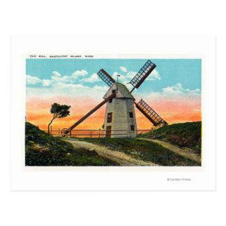 View of an Old Windmill Postcard
