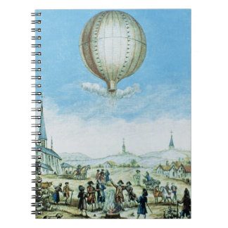 View of Annonay in Vivarais and the first flight o Notebook