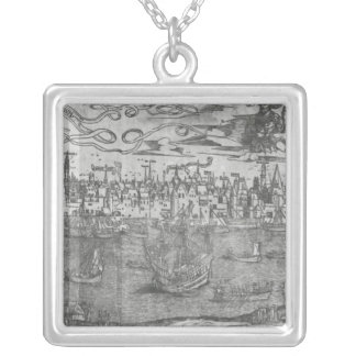 View of Antwerp Harbour Silver Plated Necklace