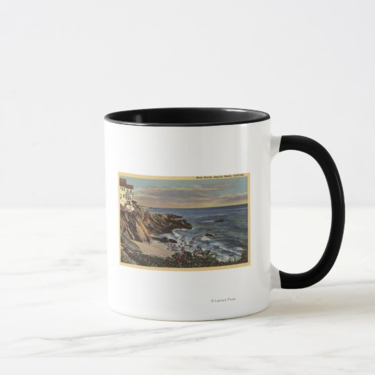 View of Arch Beach with Flowers Mug