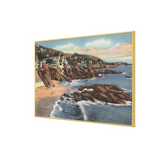 View of Arch Beach with Homes Canvas Prints