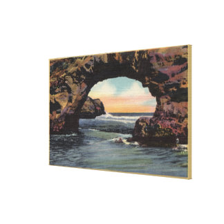 View of Arch Rock along West Cliff Drive Canvas Print