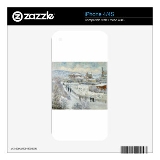 View of Argenteuil in the Snow by Claude Monet iPhone 4 Decal