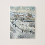 View of Argenteuil in the Snow by Claude Monet Jigsaw Puzzle