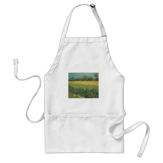 View of Arles with Irises by Vincent Van Gogh Adult Apron