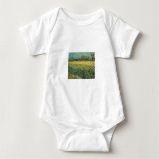 View of Arles with Irises by Vincent Van Gogh Baby Bodysuit