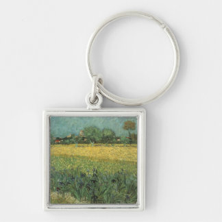 View of Arles with Irises by Vincent Van Gogh Keychain