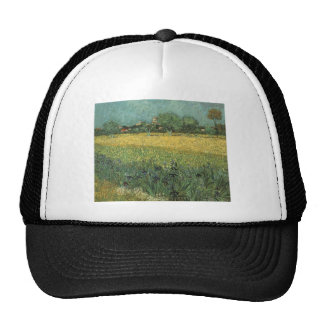 View of Arles with Irises by Vincent Van Gogh Trucker Hat