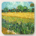 View of Arles with Irises in the Foreground Coasters