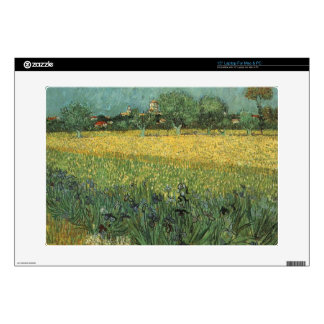 """View of Arles with Irises in the Foreground Decals For 15"""" Laptops"""