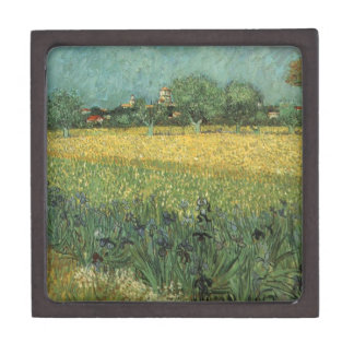 View of Arles with Irises in the Foreground Gift Box