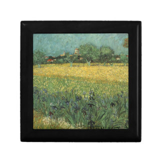View of Arles with Irises in the Foreground Keepsake Box