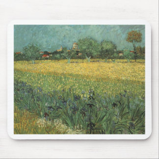 View of Arles with Irises in the Foreground Mouse Pad