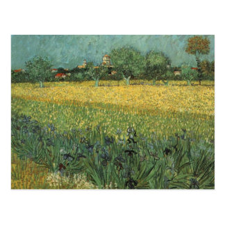 View of Arles with Irises in the Foreground Postcard