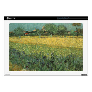 View of Arles with Irises in the Foreground Skin For Laptop