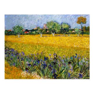 View of Arles with Irises Vincent van Gogh paint Postcard