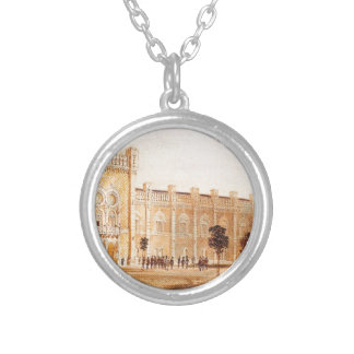 View of Arsenal Museum by Rudolf von Alt Silver Plated Necklace