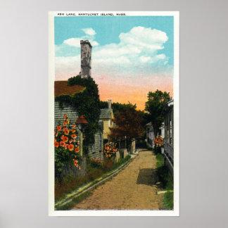 View of Ash Lane Poster