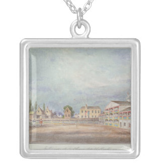 View of Astley's Amphitheatre, 1777 Silver Plated Necklace